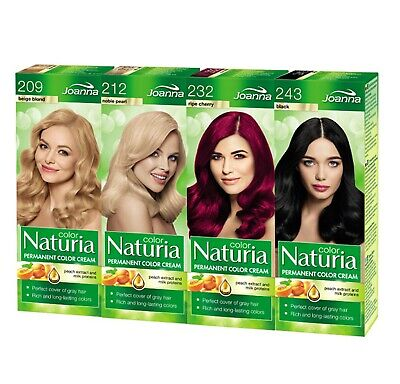 Joanna Naturia Permanent Color Cream Hair Dye Colour Cover Gray Hair All 26Shade