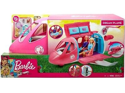 Barbie Dream Plane Kids Room Playset Girls Toys Airplane & Accessories, Kid Gift