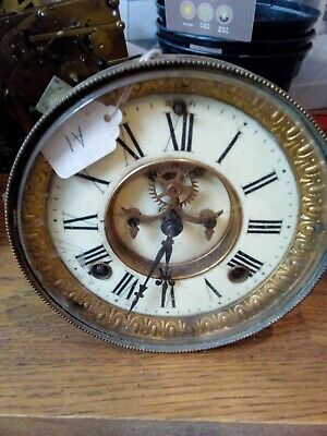 Antique Ansonia 8 Day Clock Movement ( Spares Or Repair Only)