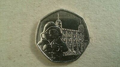 50p COIN PADDINGTON BEAR TOWER OF LONDON UNCIRCULATED FROM SEALED BAG 2019