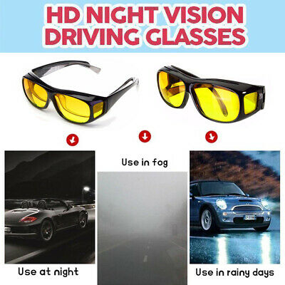 Polarized Anti Glare Yellow HD Night Vision Driving Glasses Sunglasses Goggles
