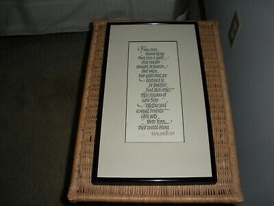 Great is Thy Faithfulness /_Calligraphy hand-lettered framed print 1138L