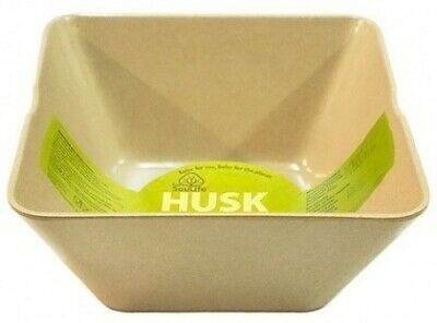 EcoSouLife Rice Husk (D19 x H) Large Square Bowl Natural (9cm)