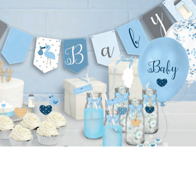 Oh So Ready to Pop Range Blue Boy Baby Shower Party Venue Decorations Balloon