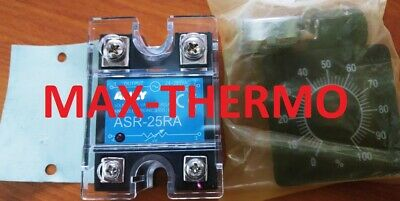 New Variable Solid state Relay Whith Potentiometer ASR-50RA 50Amp.