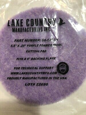 "Lake Country 5 1//4"" Low Lint Prewashed Wool Pad 6 Pack"