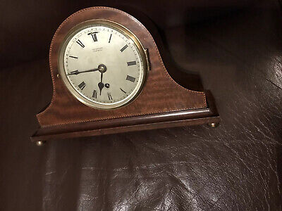 Cerco 1918 mahogany case Mantle Clock In Working Order Balance Wheel Movement.