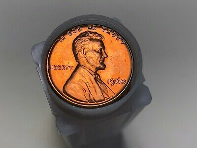 1960 P D Lincoln Memorial Cent Penny Roll LD Uncirculated 100 Coins 2 Rolls