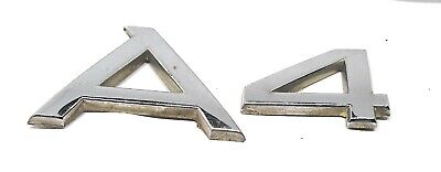 02-04 A4 Audi Rear Emblem Badge Symbol Logo Nameplate Name Trunk Lid