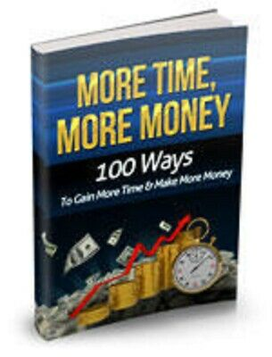 More Time More Money PDF eBook with Master Resell Rights MRR