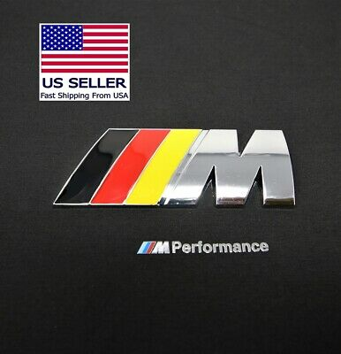 M Badge German Flag Trunk Emblem Logo Metal M-Power Fits BMW M2 M3 M4 M5 M6
