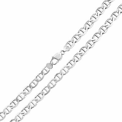 Mens Womens Solid 925 Sterling Silver Mariner Chain Necklace Italy 2.00mm - New