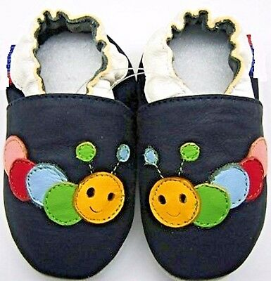soft sole leather baby shoes octopus navy sky 4-5 y Toddler minishoezoo slippers