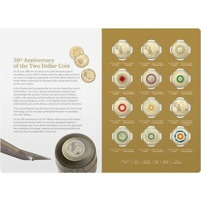 1988 🔴 2018 RAM $2 30th Anniversary of the Two Dollar Coin Collection in folder
