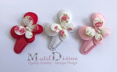 Baby Girls Non Slip Hair Clips Bow ~ 3 cm Snap Clips ~ Set of 3 ~ Butterflies