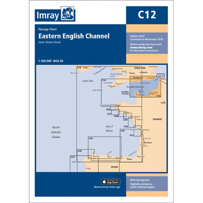 CARTE MARINE IMRAY C12 EASTERN ENGLISH CHANNEL C12 alciumpeche