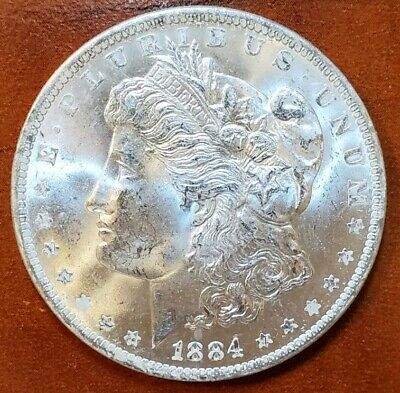 1884 o MS BU++ BRIGHT ICY WHITE WOW!!! GORGEOUS MORGAN SILVER DOLLAR FROM ROLL☆☆