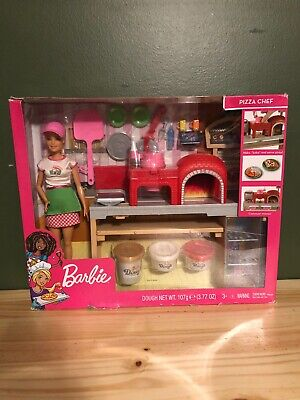 barbie pizza chef Doll And Play set NEW In Box ( Box Has Some Damage )