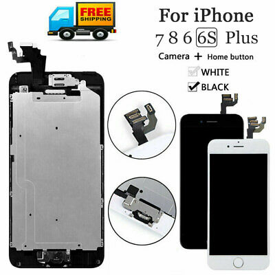 For iPhone 6S 6 8 7 Plus LCD Dispaly Touch Screen Complete Replacement + Button