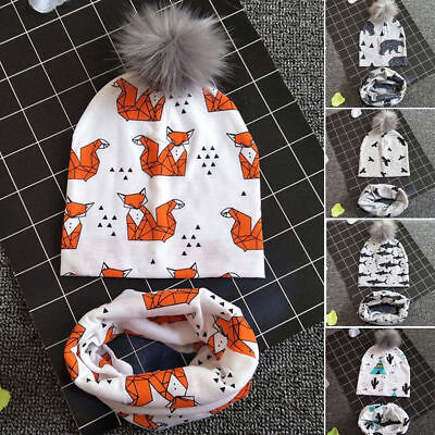 UK Newborn Toddler Kids Baby Boy Girl Turban Cotton Beanie Hat Winter Cap Scarfs