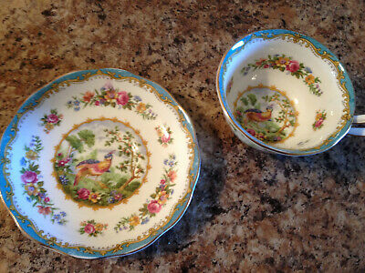 Royal Albert CHELSEA BIRD English Bone China Teacup & Saucer Duo 839184