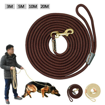 Long Strong Braided Dog Training Leash Medium Large Dog Tracking Rope Heavy Duty