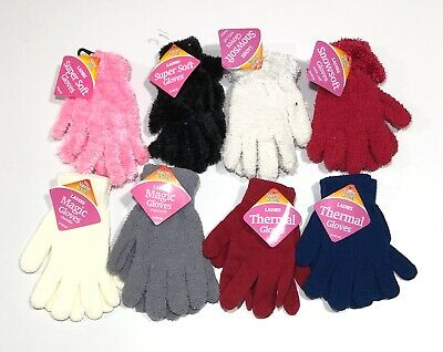 Ladies Magic Thermal Gloves Super Soft Girls Winter Clothing Stretchable Warm