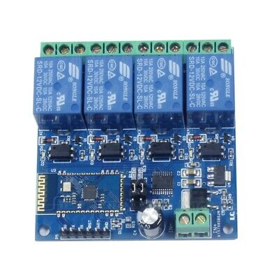 2X(12V 4CH Remote Control Switch Bluetooth Relay Module for Android Mobile M V4)