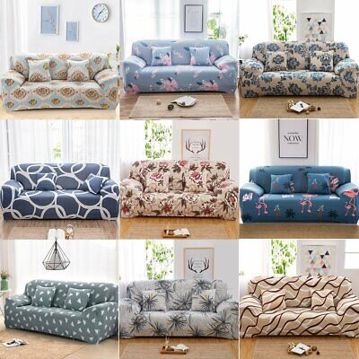 1-4 Seater Elastic Sofa Covers Settee Stretch Floral Couch Protector Slipcover