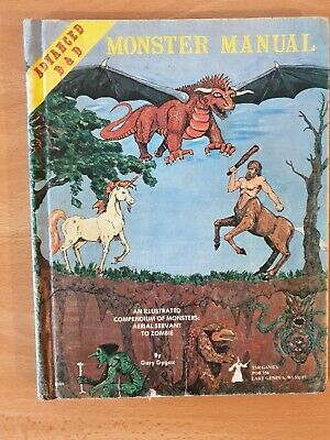 Dungeons and dragons TSR Monster Mannual 4th Edition 1979