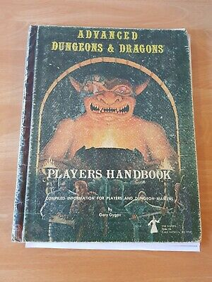 Advanced Dungeons & Dragons AD&D hardcover players handbook 1978