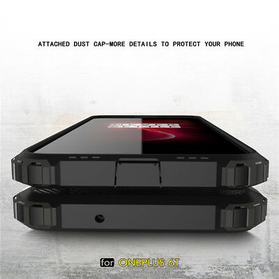 For OnePlus 6T 7T Pro Shockproof Rugged Armor Hybrid Hard PC+Soft TPU Case Cover