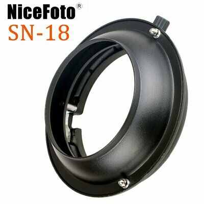 NiceFoto SN-18 Balcar Mount to Bowens Mount Adapter Ring For Speedlite Flash