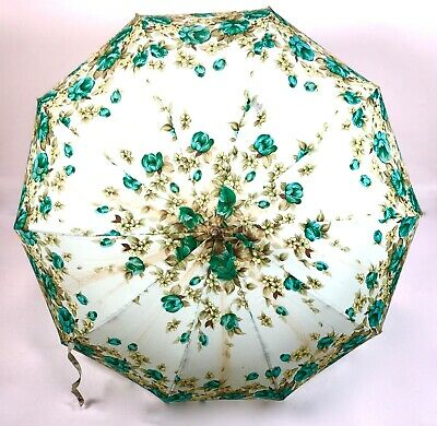 Vintage Ladies 1960s / 1970's Floral Umbrella Fashion Accessory