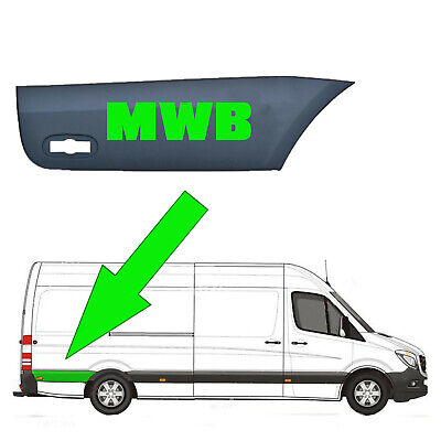 Vw Crafter MWB Plastic Protective Side Moulding Strip Trim O/S 2006 -2017