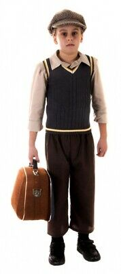 New Child Evacuee Boys Dress Costumes Kit Children World Book Week Day Outfit