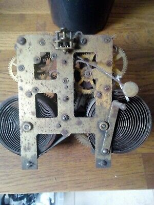 Antique Unbranded Possibly Weight Driven Clock Movement ( Spares Or Repair Only)