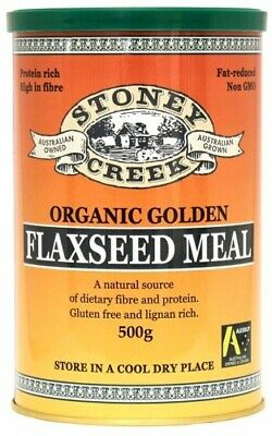 Stoney Creek Organic Golden Flaxseed Meal (500gm)