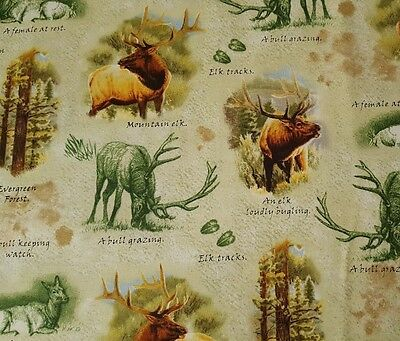 FABRIC Quilting Treasures ~ MOUNTAIN ELK ~ by Cynthie Fisher by 1//2 yd 25810 G