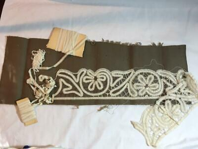 Vintage Antique Tape Lace Stencil and Cutwork Embroidery Work In Progress WIPs