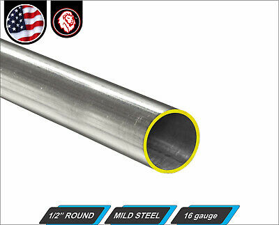 "1/2"" Round Tube - Cold Formed Mild Steel - 16 gauge - ERW (3-FT Long)"