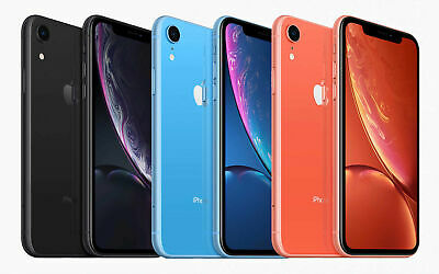 Apple iPhone XR A1984 GSM & CDMA 4G LTE iOS Smartphone, AT&T, Sprint & T-Mobile