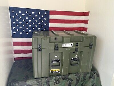 Pelican Hardigg Military Footlocker Style Transport Storage Case 32x21x21