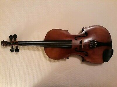 "Mittenwald Lion Head Violin Full Size 23.5"" 19th Century"