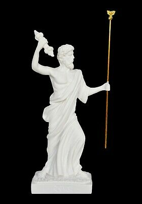 Zeus Alabaster statue - Mount Olympus - King of Gods - Ruler of Sky and Thunder