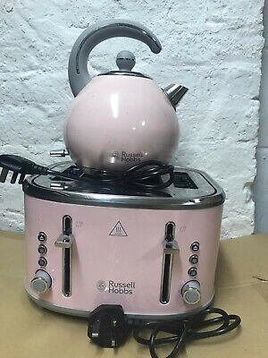 RUSSELL HOBBS 4-Slice Toaster and Kettle - Pink