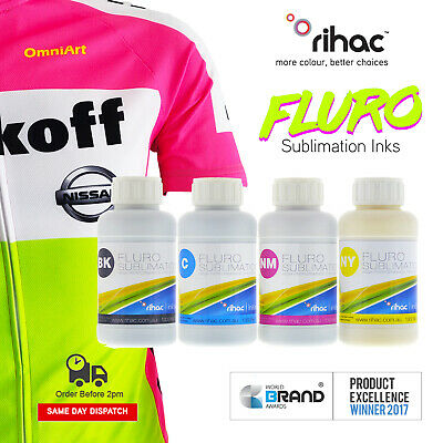 Fluro Neon Dye Sublimation Ink for Epson CISS or Refillable Heat Transfer 100ml
