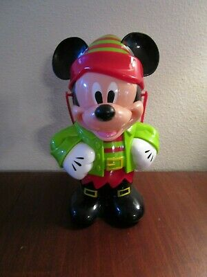 Disney World Mickey Mouse Red Christmas Elf Popcorn Bucket