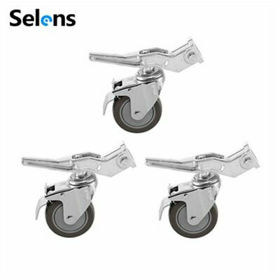 Selens 3-Pack Studio Video Professional Swivel Caster Wheel Set for Light Stand