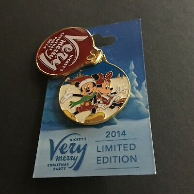 WDW Mickey Very Merry Christmas Party 2014 Mickey Minnie Mouse Disney Pin 106542